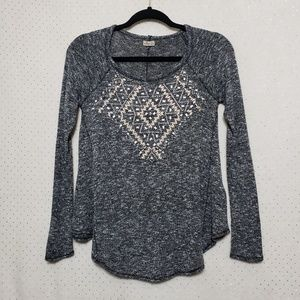Bead & Stud Embellished Sweater*Hollister*Sz XS*